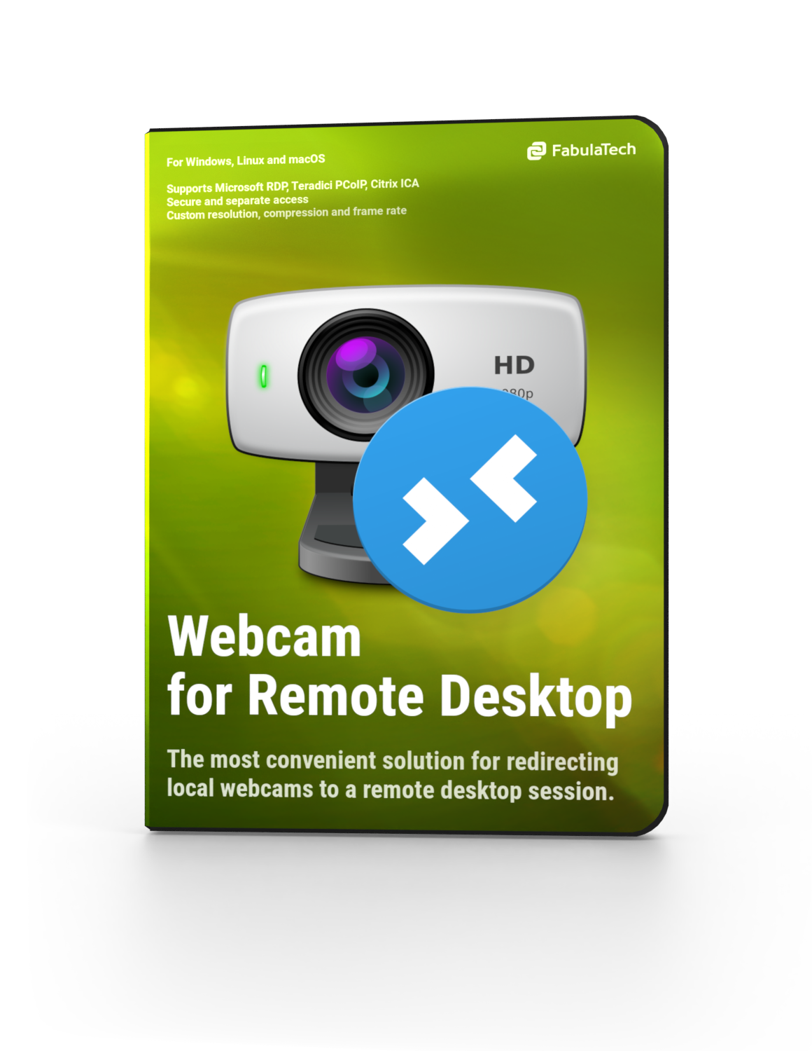Webcam for Remote Desktop Software Box