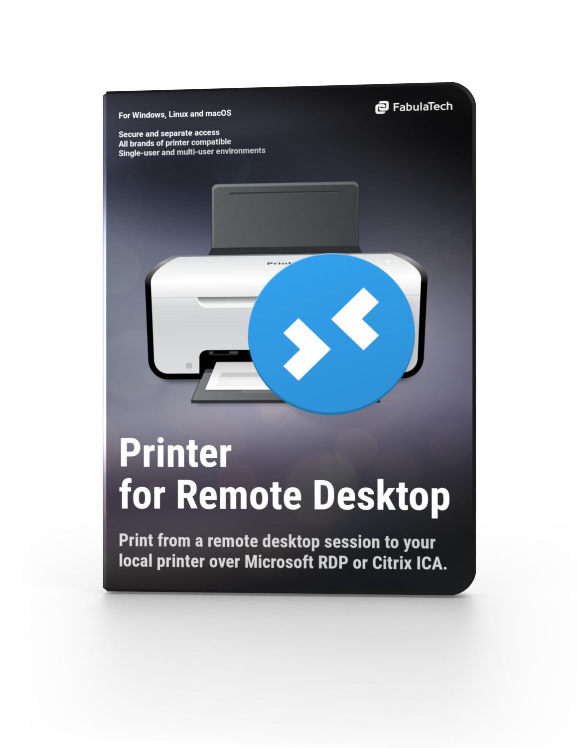 Printer for Remote Desktop Software Box