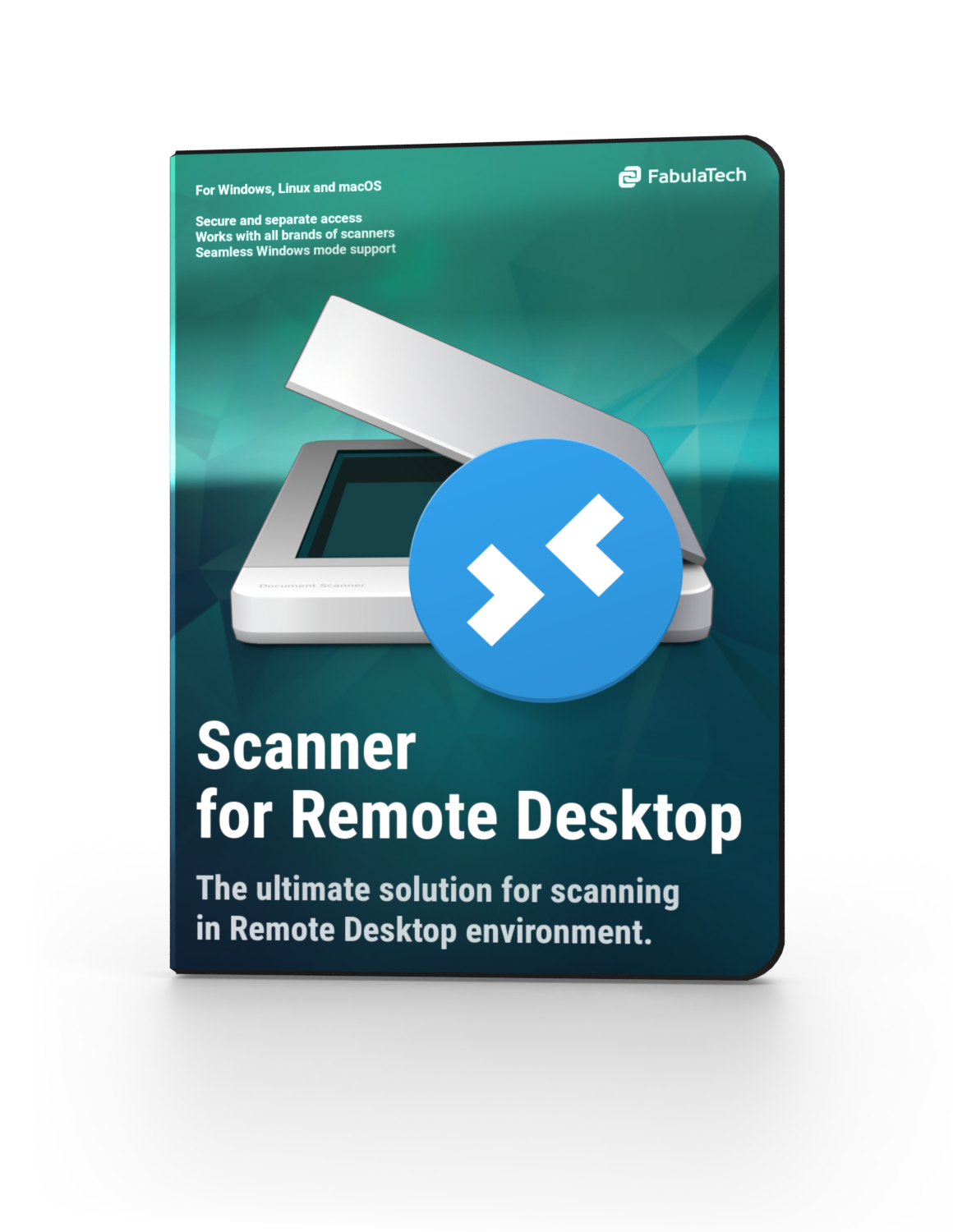 Scanner for Remote Desktop Software Box