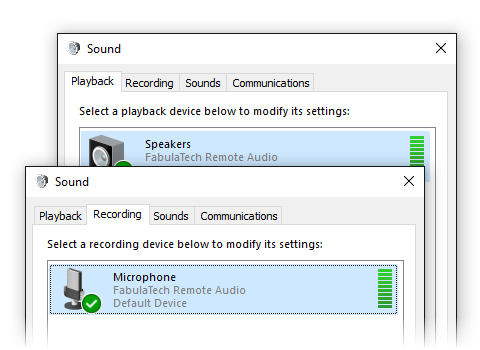 What Sound for Remote Desktop Do