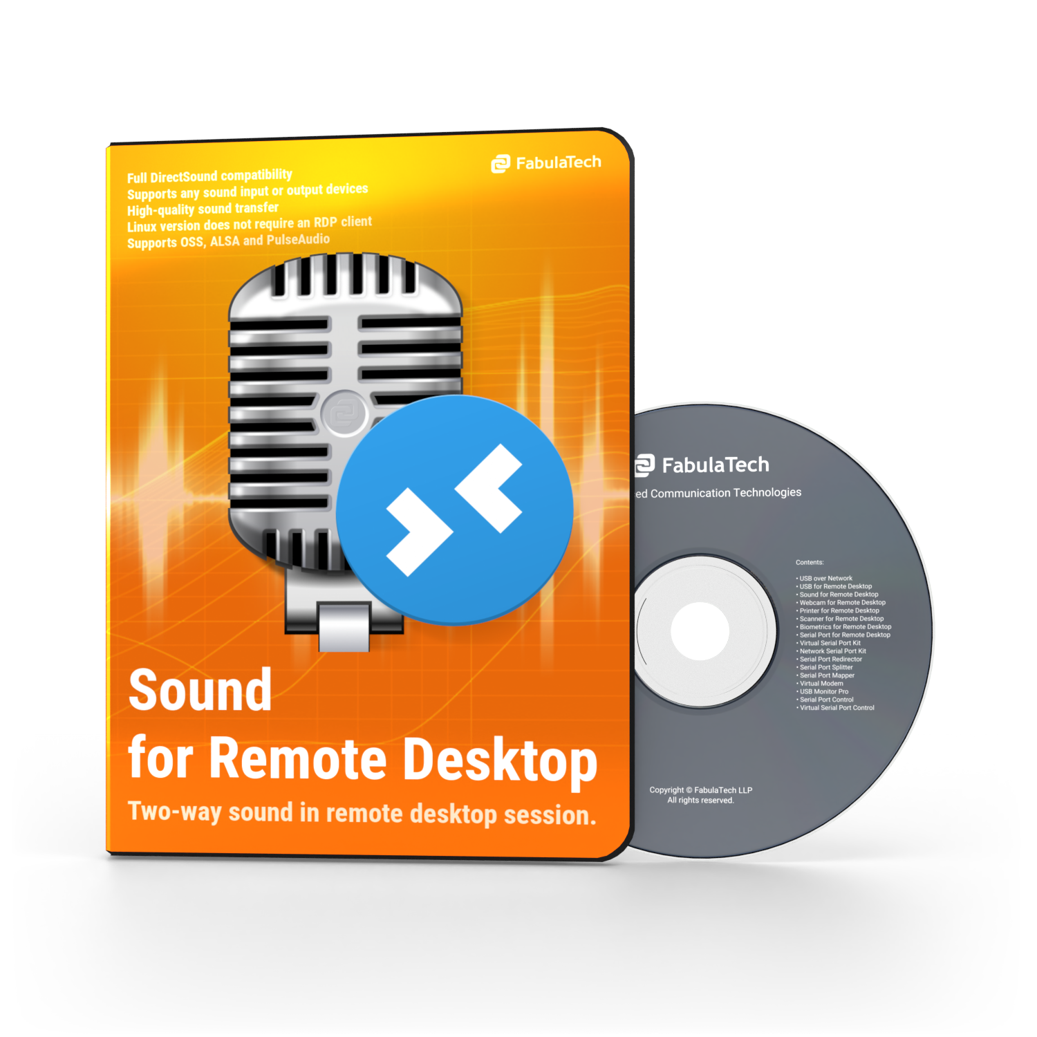 Sound over RDP Software Box and CD