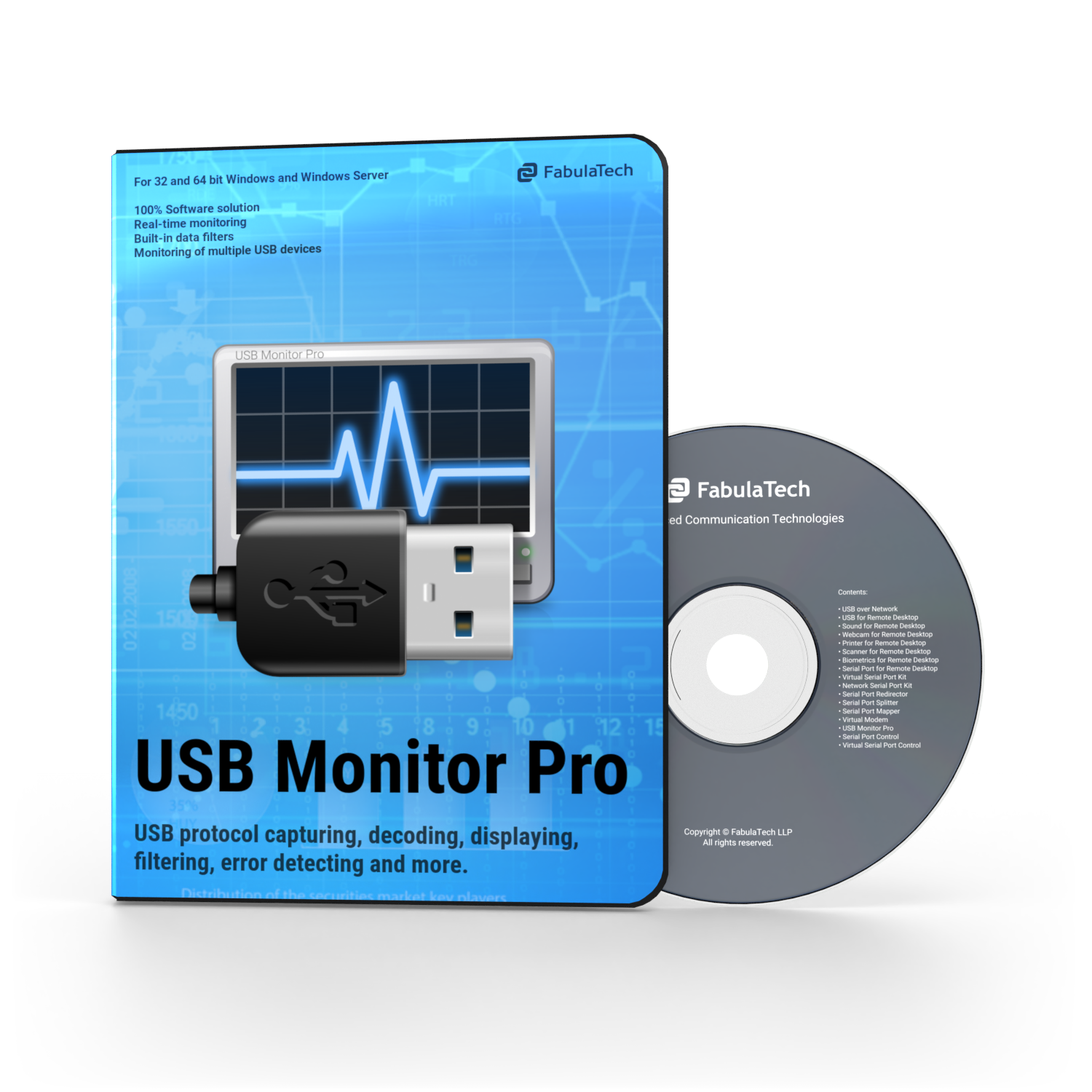USB Monitor Pro Box and CD PNG 750x750